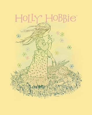 Children Book Digital Art - Holly Hobbie - Smell The Flowers by Brand A