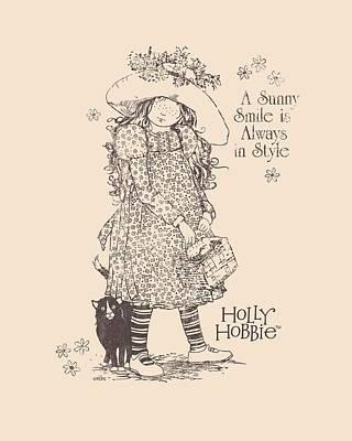Children Book Digital Art - Holly Hobbie - Sunny Smile by Brand A