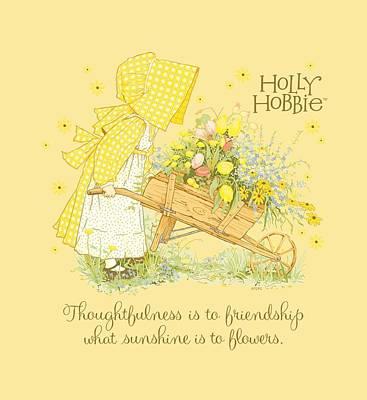 Children Book Digital Art - Holly Hobbie - Sunshine Flowers by Brand A