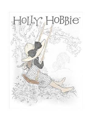 Children Book Digital Art - Holly Hobbie - Swing by Brand A