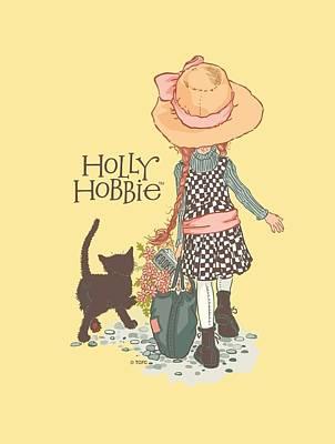 Children Book Digital Art - Holly Hobbie - Walking Cat by Brand A