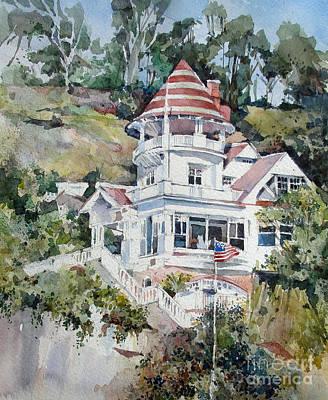 Watercolor Painting - Holly House- Catalina Island  by Natalia Eremeyeva Duarte