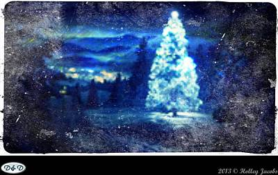 Digital Art - Holly Jolly Christmas by Holley Jacobs