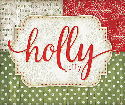 Holiday Painting - Holly Jolly by Jennifer Pugh