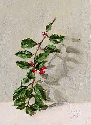 Painting - The Holly Sprig by Grace Diehl