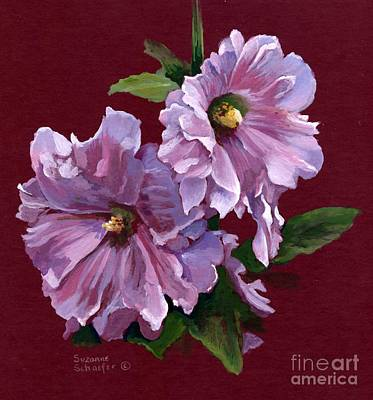 Painting - Hollyhock Blossoms by Suzanne Schaefer