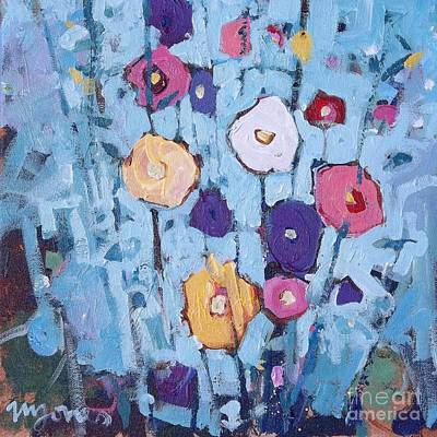 Holly Hocks Painting - Hollyhocks by Micheal Jones