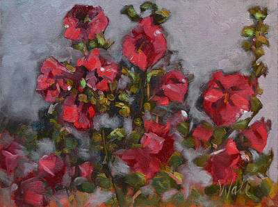 Painting - Hollyhocks by Pattie Wall