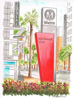 Hollywood And Vine Metro Station In Hollywood, California Original by Carlos G Groppa