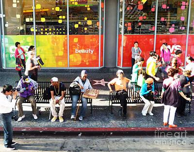 Hollywood Bus Stop Art Print