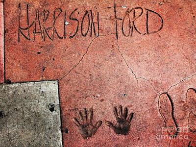 Hollywood Chinese Theatre Harrison Ford 5d29057 Art Print by Wingsdomain Art and Photography