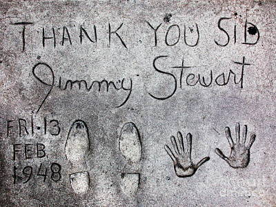 Graumans Chinese Theatre Photograph - Hollywood Chinese Theatre Jimmy Stewart 5d29018 by Wingsdomain Art and Photography