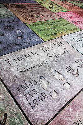 Graumans Chinese Theatre Photograph - Hollywood Chinese Theatre Jimmy Stewart 5d29038 by Wingsdomain Art and Photography