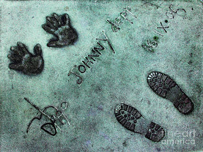 Hollywood Chinese Theatre Johnny Depp 5d29012 Print by Wingsdomain Art and Photography