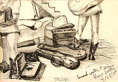 Drawing - Hollywood Cowgirls At Sweetwater  by Art By Tolpo Collection