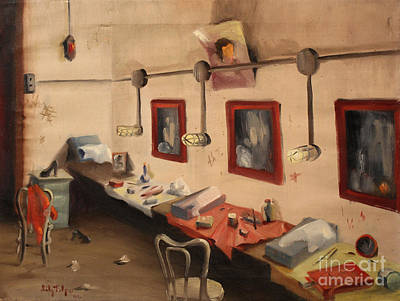 Painting - Hollywood Cowgirls Dressing Room - Rex Theater by Art By Tolpo Collection