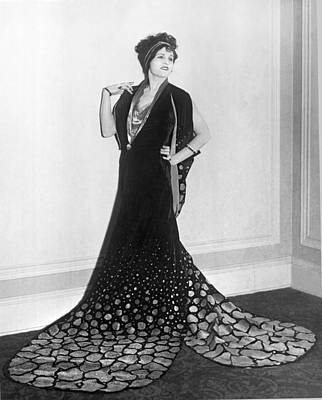 Photograph - Hollywood Film Fashion by Underwood Archives