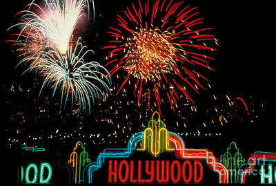 Hollywood Fireworks Art Print by Carroll Seghers II