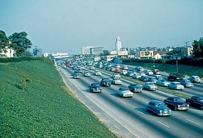 Hollywood Freeway 2 1954 Art Print by Cumberland Warden