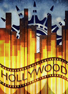 Digital Art - Hollywood Gold by Shawna Rowe