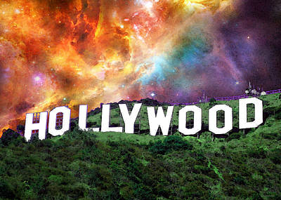 Hollywood - Home Of The Stars By Sharon Cummings Art Print by Sharon Cummings