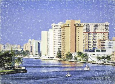 Photograph - Hollywood In Florida by Les Palenik