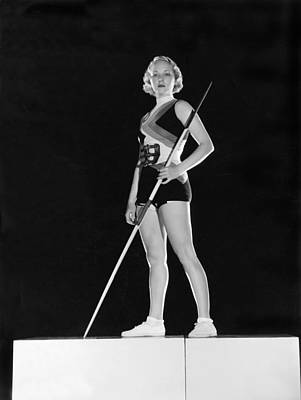 Hollywood Javelin Thrower Print by Clarence Sinclair Bull