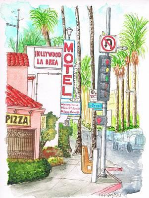 Hollywood-la Brea Motel In Hollywood, California Art Print