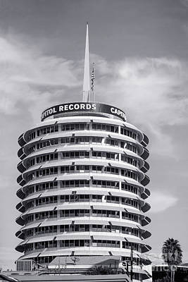 Hollywood Landmarks - Capital Records Art Print by Art Block Collections