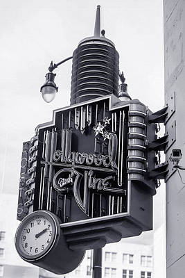 Message Art Photograph - Hollywood Landmarks - Hollywood And Vine Sign by Art Block Collections