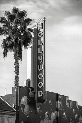 Hollywood Landmarks - Hollywood Theater Art Print by Art Block Collections