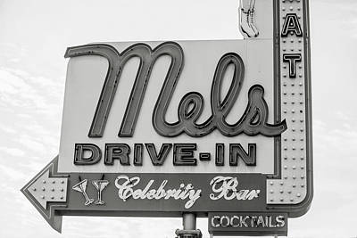 Hollywood Landmarks - Mel's Drive-in Art Print by Art Block Collections