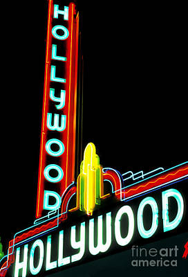 Hollywood Movie Theater Art Print by Spencer Grant