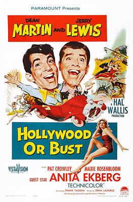 Dean Martin Poster Photograph - Hollywood Or Bust, Top L-r Dean Martin by Everett