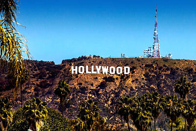 Hollywood Sign Art Print by Az Jackson