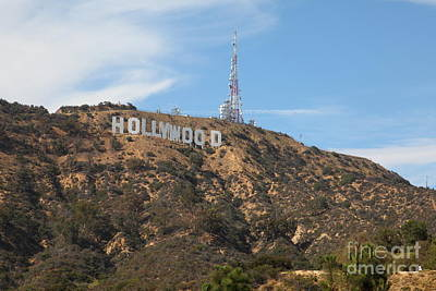 Photograph - Hollywood Sign In Los Angeles California 5d28484 by Wingsdomain Art and Photography