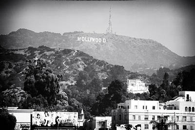 Hollywood Sign Art Print by John Rizzuto