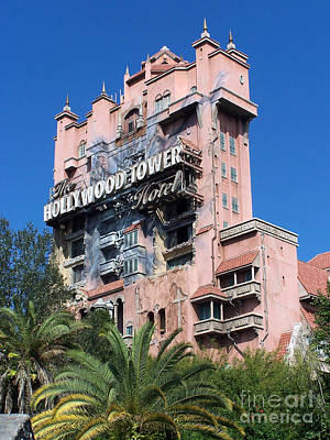 Art Print featuring the photograph Hollywood Tower Hotel by Tom Doud