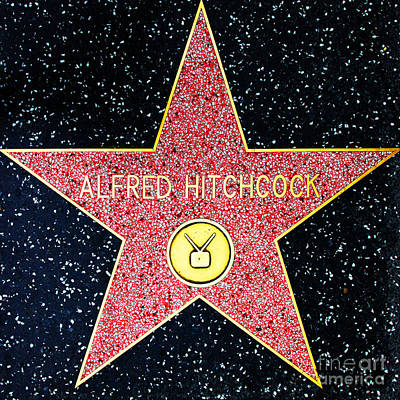 Photograph - Hollywood Walk Of Fame Alfred Hitchcock 5d28961 by Wingsdomain Art and Photography
