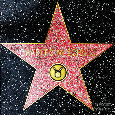 Hollywood Walk Of Fame Charles Schulz 5d28947 Art Print by Wingsdomain Art and Photography