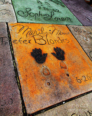 Hollywood Walk Of Fame Marilyn Monroe 5d29039 Art Print by Wingsdomain Art and Photography