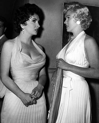 Marilyn Photograph - Gina Lollobrigida And Marilyn Monroe by Retro Images Archive