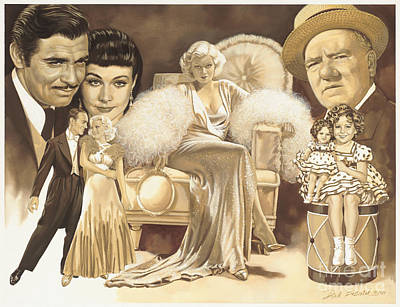 Movie Stars Painting - Hollywoods Golden Era by Dick Bobnick