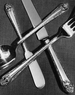 Silver Photograph - Holmes And Edwards Collection Silverware by Peter Nyholm