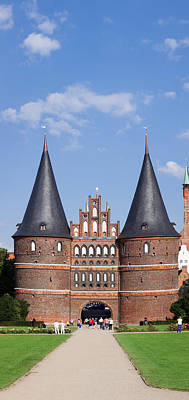 Lubeck Photograph - Holstentor Gate, Lubeck by Panoramic Images