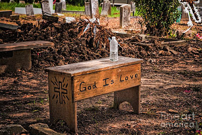 Photograph - Holt Cemetery - God Is Love Bench by Kathleen K Parker
