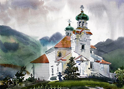 Outreach Painting - Holy Ascension Cathedral Unalaska by Vladimir Zhikhartsev