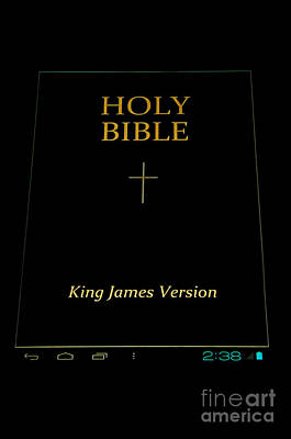 E-books Photograph - Holy Bible In Android by Aleksey Tugolukov