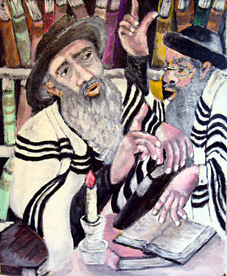 Hebrew Script Painting - Holy Bible by Mimi Eskenazi