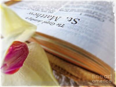 Holy Bible - The Gospel According To Matthew Art Print by Ella Kaye Dickey